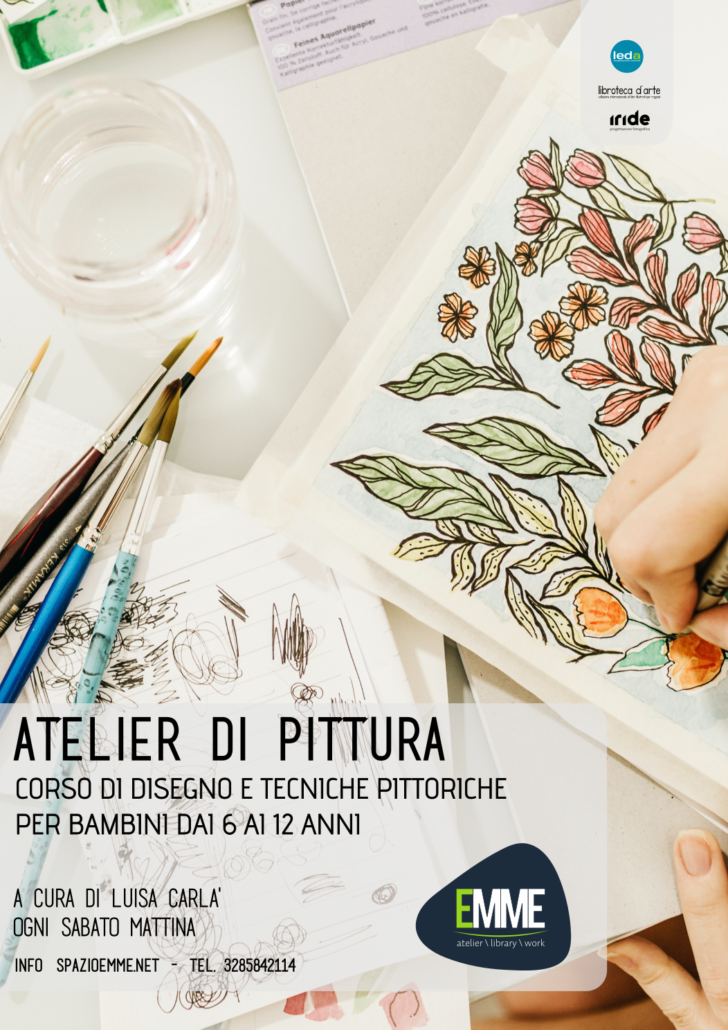 Corso di disegno e tecniche pittoriche per bambini dai 6 ai 12 anni.